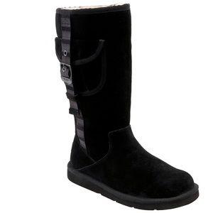 UGG Australia Retro Cargo Boot Black Side Zip 6